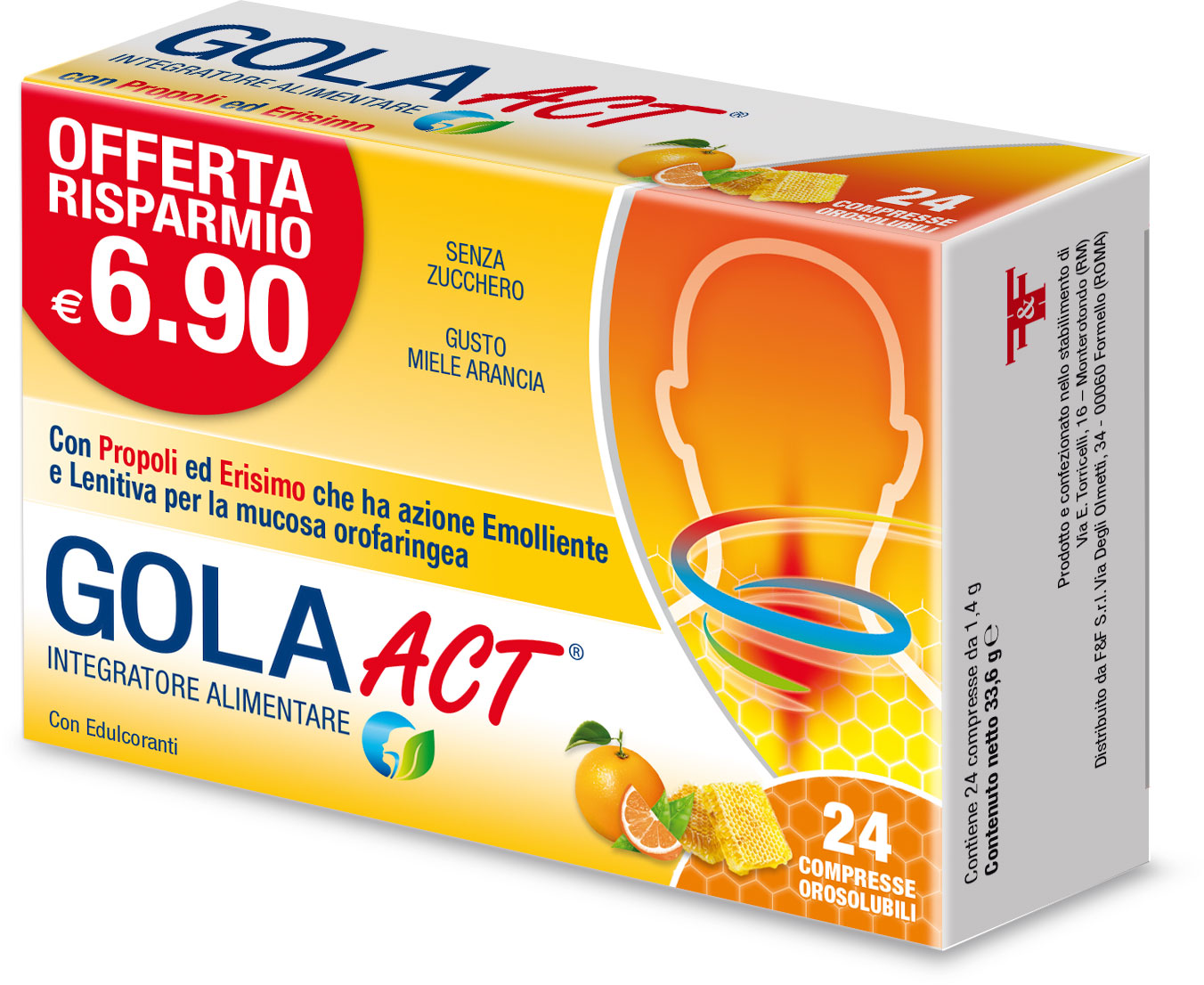GOLA ACT - GUSTO MIELE ARANCIA