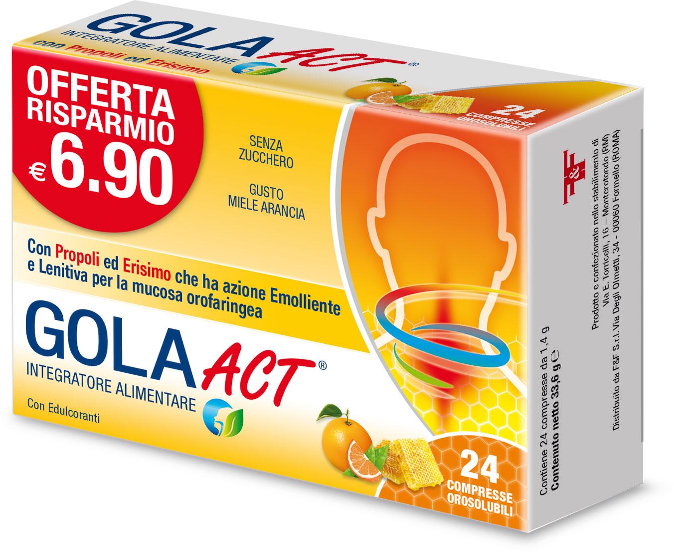 GOLA ACT - GUSTO MIELE ARANCIA