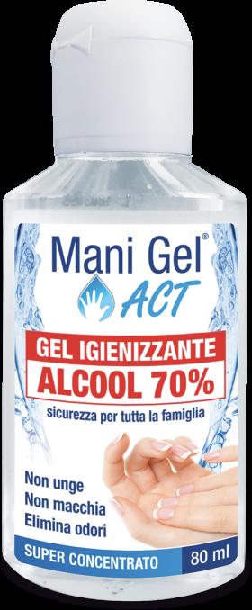 MANI GEL ACT IGIENIZZANTE ALCOOLICO AL 70% - 80 ML
